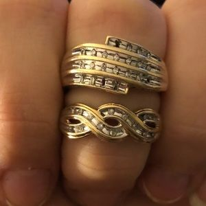 two 10k gold rings size 7